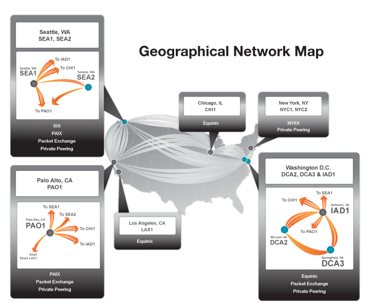 Network Geographical Map - Winter, 2011