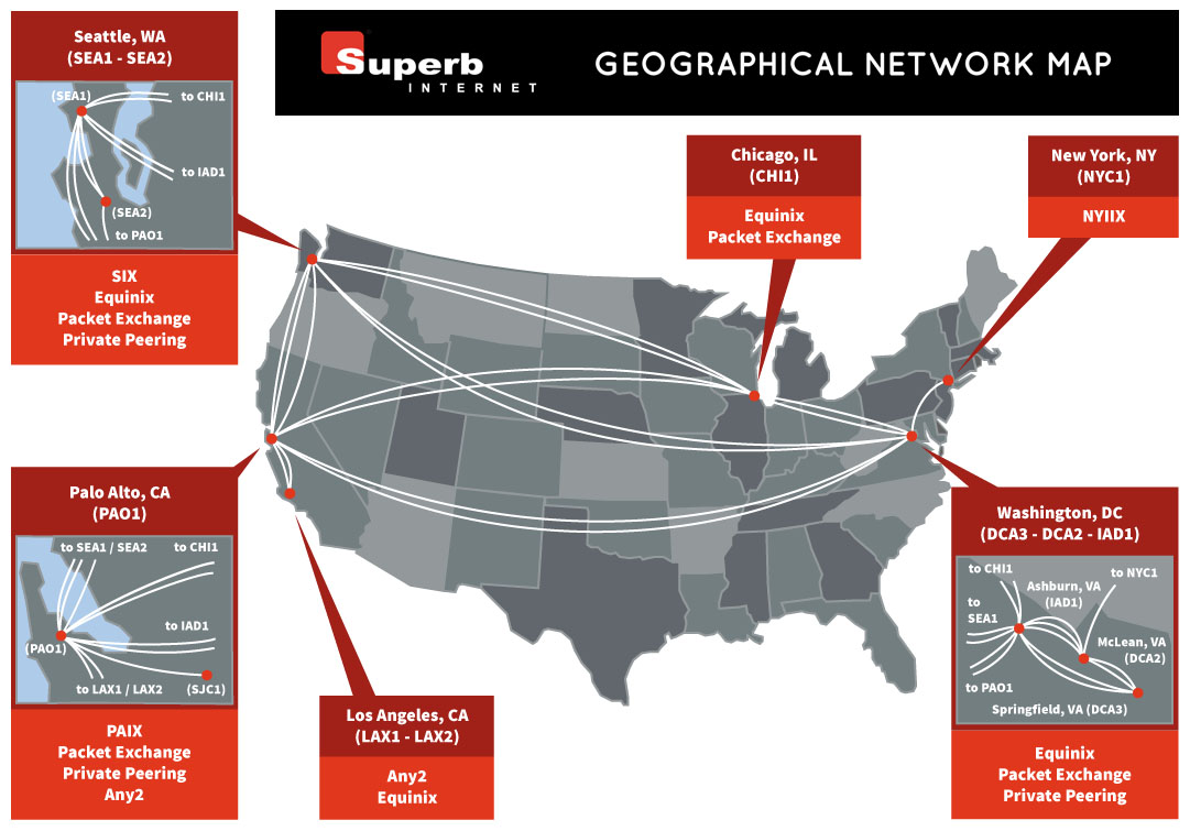 Geographical Network Map