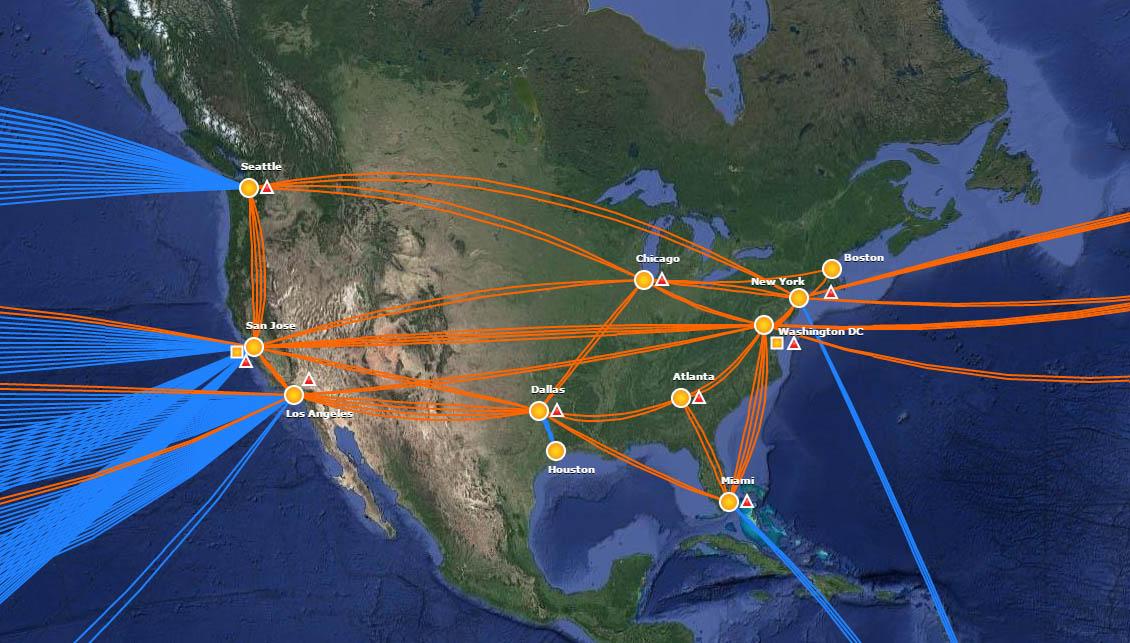Superb Internet NSSSC Core Network Backbone Connectivity - Us backbone map